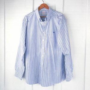 BROOKS BROTHERS Classic Striped Oxford Shirt XL